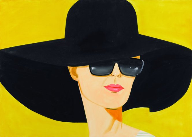 Alex Katz, Black Hat (Bettina)