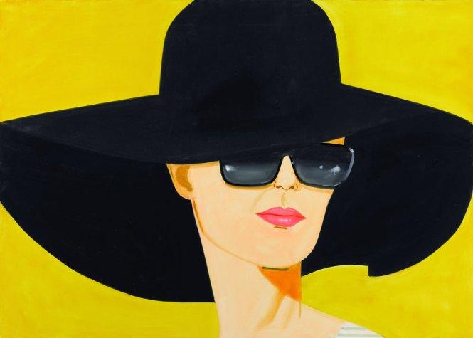 Alex Katz, Black Hat (Bettina)