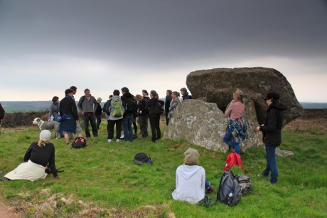 'Coast to Coast' field trip led by artist Billy Wynter and National Trust Countryside Manager John Brooks